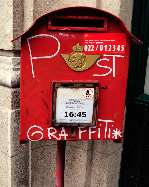 Ein Briefkasten in Bruessel